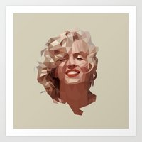 marilyn Art Prints featuring marilyn by gazonula