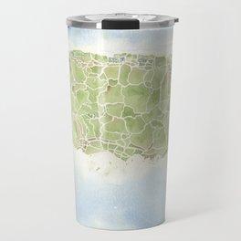 Puerto Rico watercolor map Travel Mug