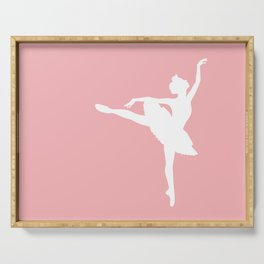 Pink and white Ballerina Serving Tray