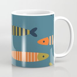 Striped fish - blue Coffee Mug
