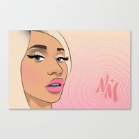 minaj Canvas Prints featuring 081613—Minaj by danielleBABYLON