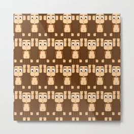 Super cute animals - Cheeky Brown Monkey Metal Print