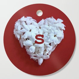 Red Monogrammed Heart S Cutting Board
