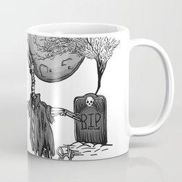Penguin Zombie -Black and white Coffee Mug