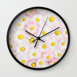 Daisy Flowers Wall Clock