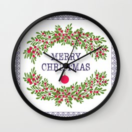 Christmas . Congratulations gifts. Wall Clock