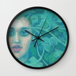Green Lady / Forest Queen Wall Clock