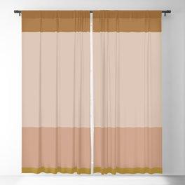 Contemporary Color Block X Blackout Curtain