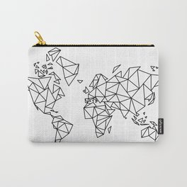 Geometric Low Poly Map of The World / Polygon geometry Carry-All Pouch