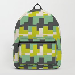 Geometric Camo Green lime pattern Backpack