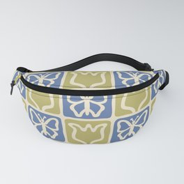 Pretty Mid Century Modern Butterfly and Flower 235 Fanny Pack
