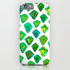 Green gemstone pattern. iPhone 6s Slim Case