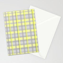Yellow + Grey Plaid Stationery Cards
