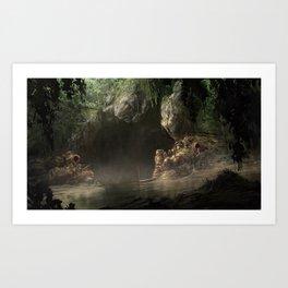 Smuggler's Cave Art Print