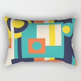 Funky Geometry (Modern Vibrant Color Palette) Rectangular Pillow