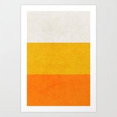 three stripes - candy corn Art Print