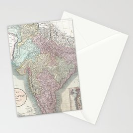 Vintage Map of India (1806) Stationery Cards
