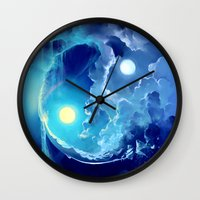 pocket fuel Wall Clocks featuring Fuel for Life by Cyril ROLANDO