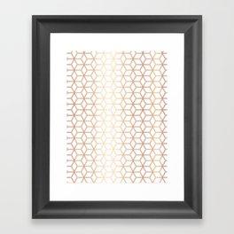 Hive Mind Rose Gold #113 Framed Art Print
