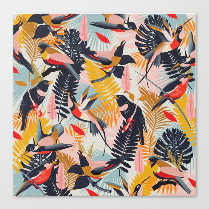 Paradise Birds II. Canvas Print