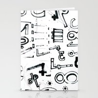 typo Stationery Cards featuring TYPO CHAOS by Michela Buttignol
