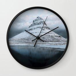 Kirkjufell Mountain in Iceland - Landscape Photography Wall Clock