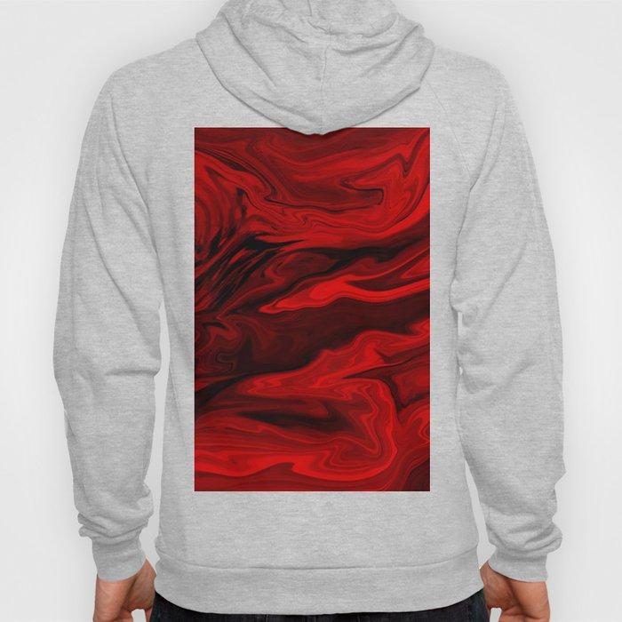 Blood Red Marble Hoody