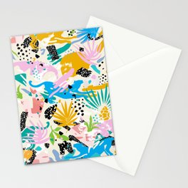 Pastel Jungle Abstraction Stationery Cards