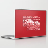 ouat Laptop & iPad Skins featuring Swan Queen Nicknames - Red (OUAT) by CLM Design