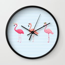 Fancy Flamingos Wall Clock