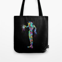 edward scissorhands Tote Bags featuring Edward Scissorhands by AHDessins