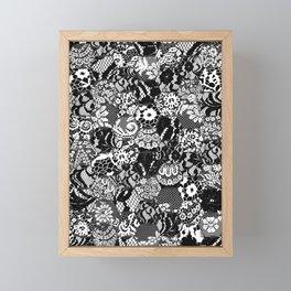 gothic lace Framed Mini Art Print
