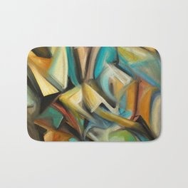 Cubism Painting Bath Mat