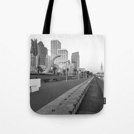 San Francisco Downtown- BW Tote Bag