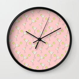 Cocktail pink Wall Clock
