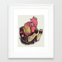 cook Framed Art Prints featuring Cook-a-doodle Punk by Alejandro Giraldo