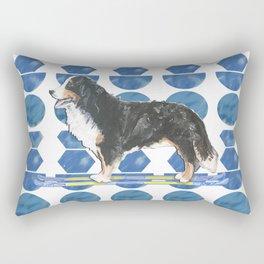 Bernese Mountain Dog Ski Fun Rectangular Pillow
