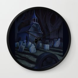 Sleepy Hollow Churchyard Cemetery Wall Clock