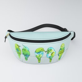 Five birds on a wire Fanny Pack