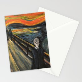 The Silence - When The Doctor Meets Munch Stationery Cards