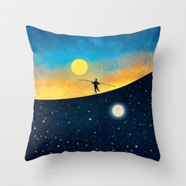 The Tightrope Walker Throw Pillow