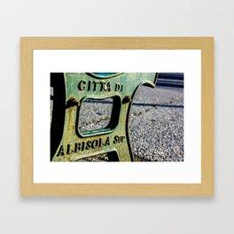 Italian Bench Framed Art Print