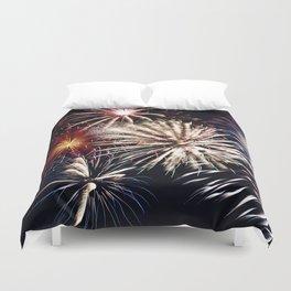 celebration fireworks Duvet Cover