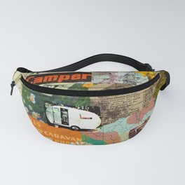 RETRO CAMPING COLLAGE Fanny Pack