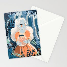 Little princess in the woods Stationery Cards