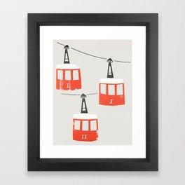 Barcelona Cable Cars Framed Art Print