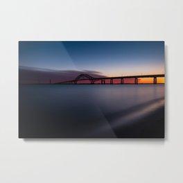 Fire Island Inlet Bridge Sunset Metal Print