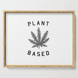 plant based marijuana leaf Serving Tray