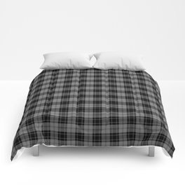 Black and Gray Plaid Comforters