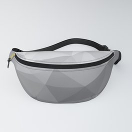 Gray Polygon Background Fanny Pack